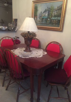 Antique Mohagany din table and 6 chairs for Sale in Gambrills, MD