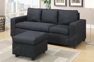 🎈2 Pc Convertible Sectional Black🎈 for Sale in Hialeah, FL