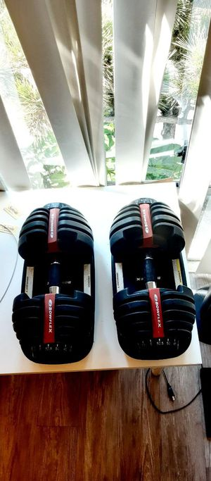 Original adjustable dumbbell Bowflex+ brand new bench press for Sale in Downey, CA
