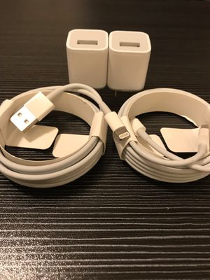Apple iPhone Charger Sets x2 2m(6 feet) for Sale in Sacramento, CA