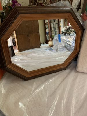 Beautiful Wood Framed Mirror ready to wall mount. for Sale in Milpitas, CA