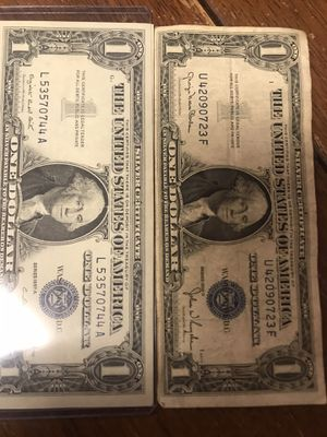 One dollar bills for collection very old for Sale in Licking, MO