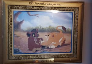 Disney lithograph, Lion king, rare print, collectors frame for Sale in Vancouver, WA