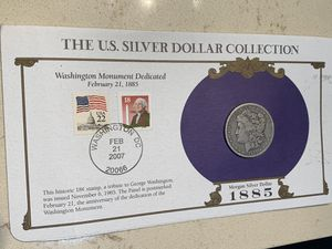 1885-O Morgan Silver Dollar and 2 Stamps for Sale in San Jose, CA