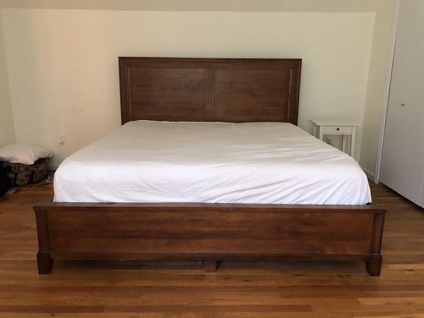 King size maple bed frame - solid wood