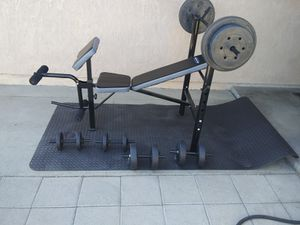 Weight Bench w/weights-new for Sale in Highland, CA