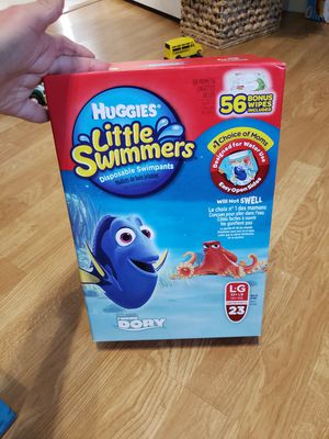 2 Huggies L 23 little swimmers swimpants for Sale in Coral Springs, FL
