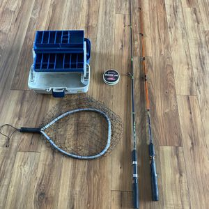 Fishing Poles, Net, Tackle Box, Braid Line for Sale in Damascus, OR