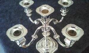 Vintage silver plated 5 arm candelabra Nagel made by BMF West Germany for Sale in Seminole, FL