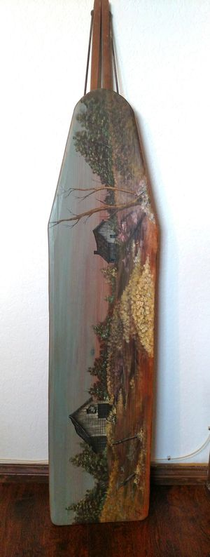 Vintage Hand Painted Wood Ironing Board for Sale in Hesperia, CA