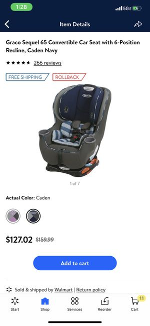 Graco convertible car seat new never used for Sale in York, PA