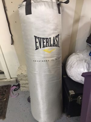Everlast White 80lb heavy bag punching bag for Sale in Austin, TX