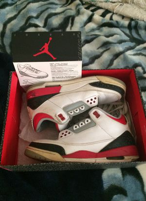 Air Jordan retro fire red 3 size 8.5 for Sale in Silver Spring, MD