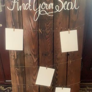 Wood Board - Seating Chart for Sale in Merrick, NY