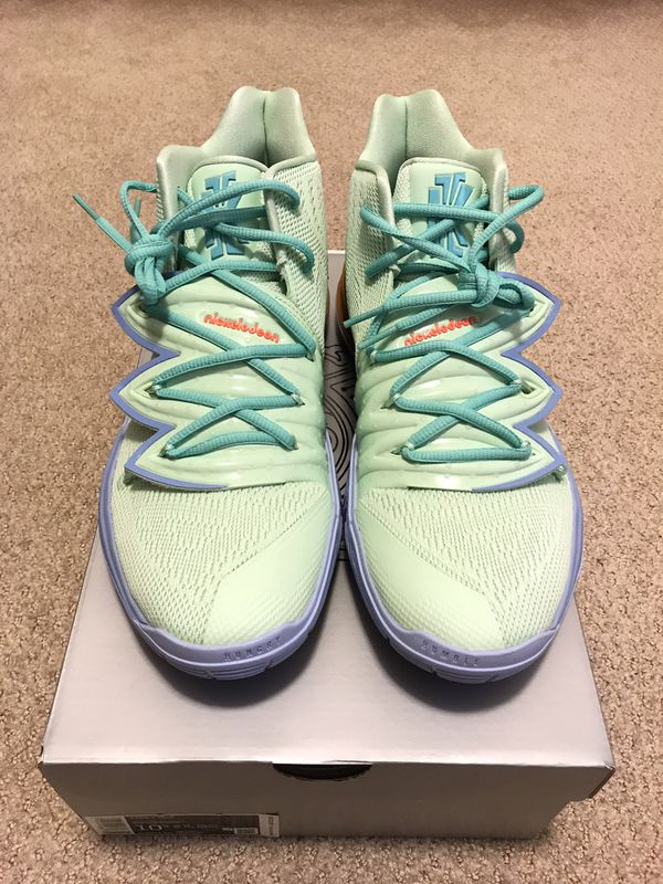 Nike Squidward Tentacles Kyrie Irving 5 Size 10.5