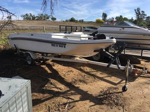 Nice fishing Boat & trailer w/new carpet & seat & lots of extras. OBO! Make offer for Sale in Riverside, CA