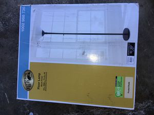 Hampton Bay 71.5 in. Black Floor Lamp with LED Bulb Included for Sale in Anaheim, CA