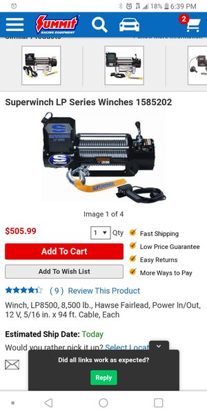 Super winch lp8500 for Sale in Los Angeles, CA