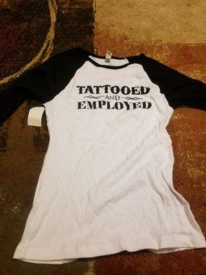 Tattooed & Employeed Baseball Tee for Sale in Elizabeth, NJ