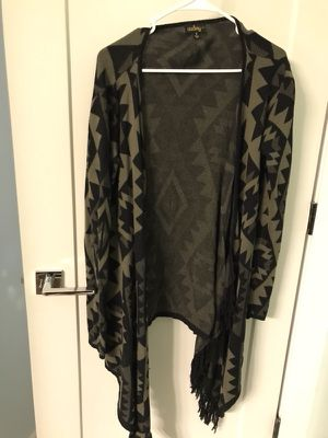 Black and green fringe cardigan for Sale in Chapin, SC