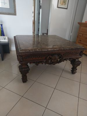 Marble Top Coffee Table w/2 Matching Side Tables for Sale in Miami, FL