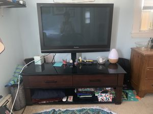 Panasonic TV 42inch with TV Stand for Sale in Wells, ME