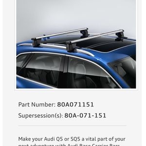 Roof Rack - AUDI Q5 for Sale in Los Angeles, CA