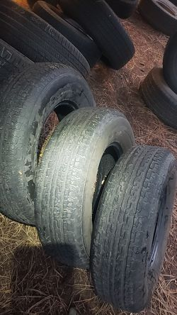 215/75/14 set of three trailer tires for Sale in Bellevue,  WA