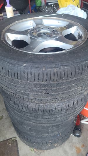4 original Mustang Rims with tires 225/55r16 for Sale in Tacoma, WA