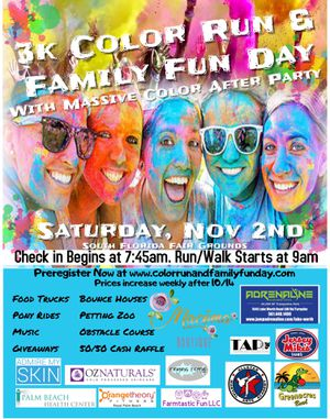 Visit website at. color run and family fun day for Sale in West Palm Beach, FL
