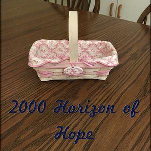 Longaberger 2000 Horizon of Hope basket for Sale in Elyria, OH