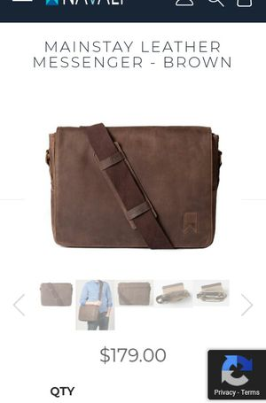 Mainstay real leather brown messenger bag for Sale in Ontario, CA