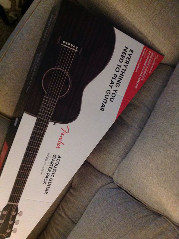 Fender, acoustic guitar starter pack