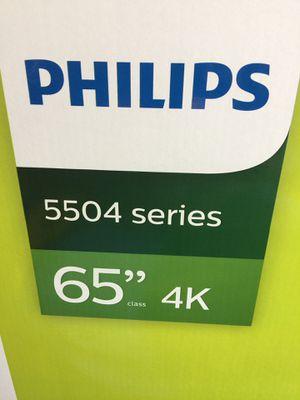 "Phillips 65"" 4K SMART TV NEW IN BOX for Sale in Summerville, SC"
