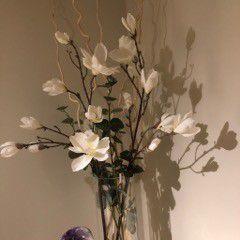 Artificial flower arrangment 30 w/ vase for Sale in Boston, MA