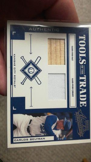 Carlos Beltran game used jersey/bat card for Sale in Lincoln, NE
