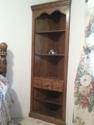 Oak corner cabinet for Sale in Atoka, OK