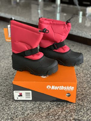 *BRAND NEW* Girls Snow Boots (Size: 2 Big Girl, not Toddler size) for Sale in Brentwood, CA