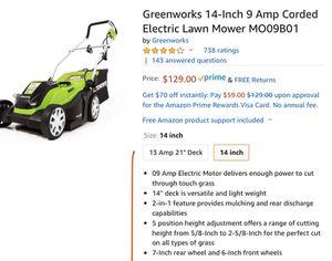 Electric lawn mower for Sale in Stockton, CA