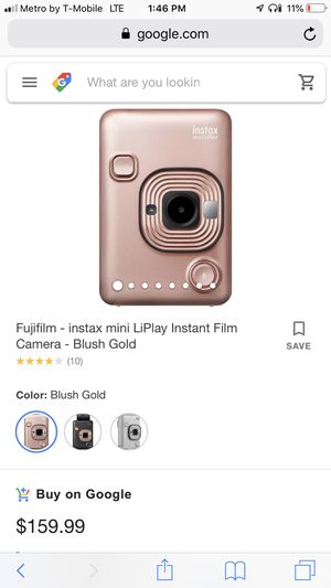 Brand New Fujifilm instax mini LiPlay- Blush Gold for Sale in Corona, CA