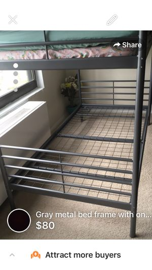 Bunk bed frame with one mattress for Sale in Hyattsville, MD