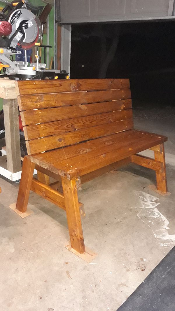 Porch bench for 2