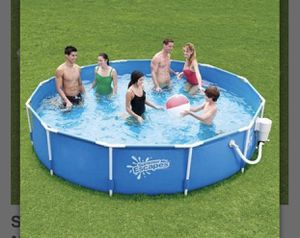 12ft metal frame pool for Sale in Lake Ridge, VA