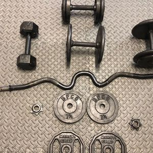 Dumbbell Curl/ Arm Weight Set for Sale in Woodland, CA