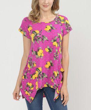 New! Boutique lemon/hot pink pocket top medium for Sale in Natick, MA