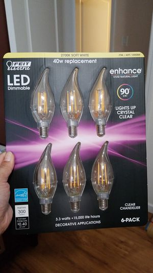 6pc LED Dimmable replacement bulb for Sale in Boston, MA