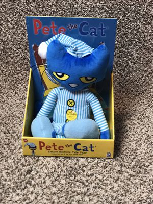 "Pete The Cat Deluxe Bedtime Pete Plush 15"" Doll Plays Music - NEW for Sale in French Creek, WV"