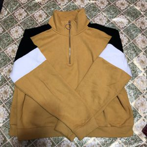 Yellow stripped crewneck hoodie for Sale in Norwalk, CA