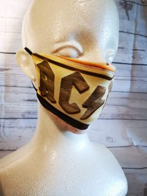 Adult Face mask, facemask (ACDC): Hand made mask, reversible, reusable, washer and dryer safe. for Sale in Long Beach, CA