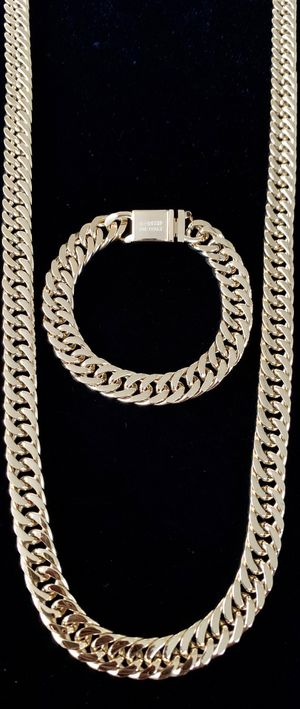 DOUBLE CUBAN LINK CHAIN 18K GOLD MADE IN ITALY ⭐️ YES YOU ARE ON TIME! GET IT FOR CHRISTMAS NOW!!!!! MEGA SALE! 🎄🎁⭐️ for Sale in North Bay Village, FL